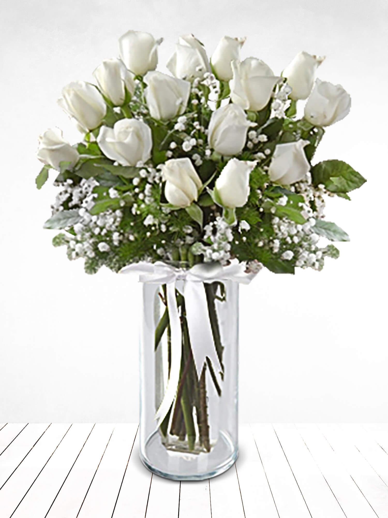 İnci Güzelliği 15 Beyaz Gül