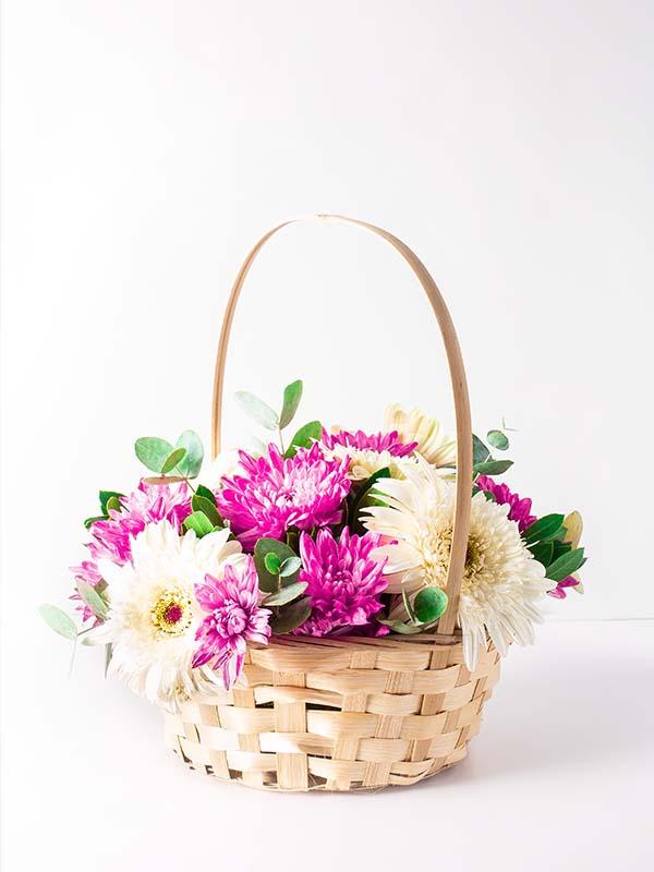 Bahar Gerbera Çiçek Sepeti