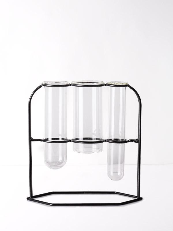 3'lü Deney Tüpü Vazo