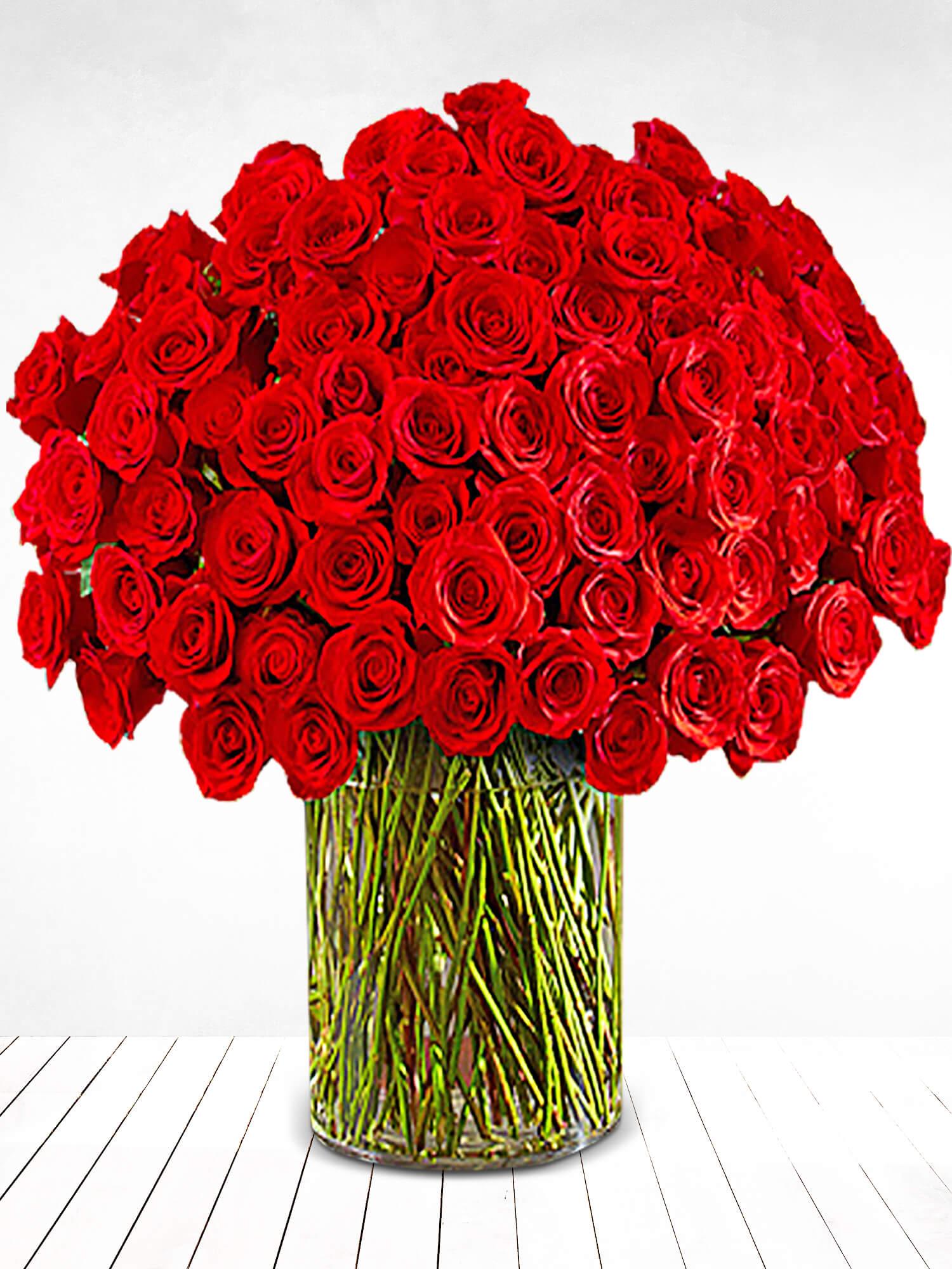 Vazoda 125 Kırmızı Gül