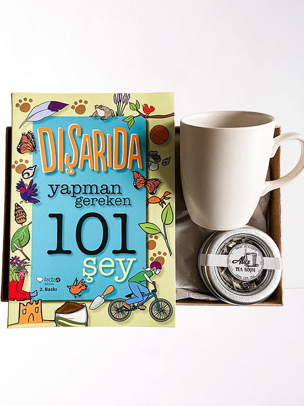Kitap Bana Çay Anneme Hediye Kutusu