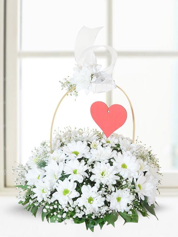 Beyaz Papatya Sepeti