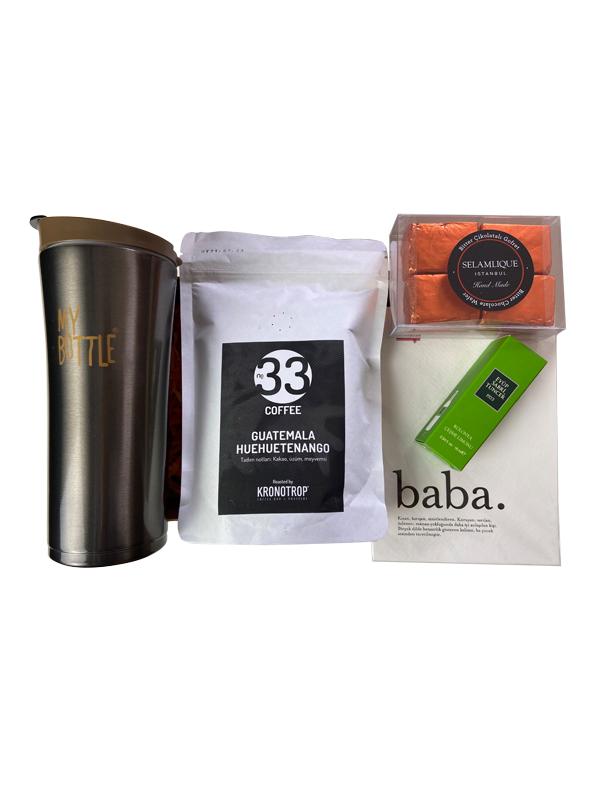 Kahve Sever Babalara (Metal Termos) Hediye Kutusu