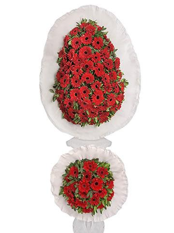 Kırmızı Gerbera İki Katlı Çiçek Sepeti