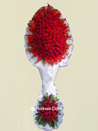Kırmızı Karanfil Çift Katlı Çiçek Sepeti