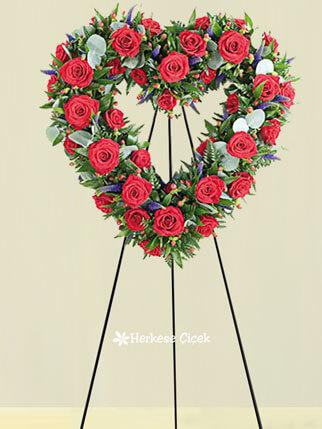 Kırmızı Kalbim Ferforje Aranjmanı